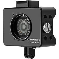 ANDYCINE RX0用ケージ CNCアルミ合金ハウジングケース カメラ保護ケース 37mm UVレンズフィルター/ベースマウント/スクリュー付き(ブラック)