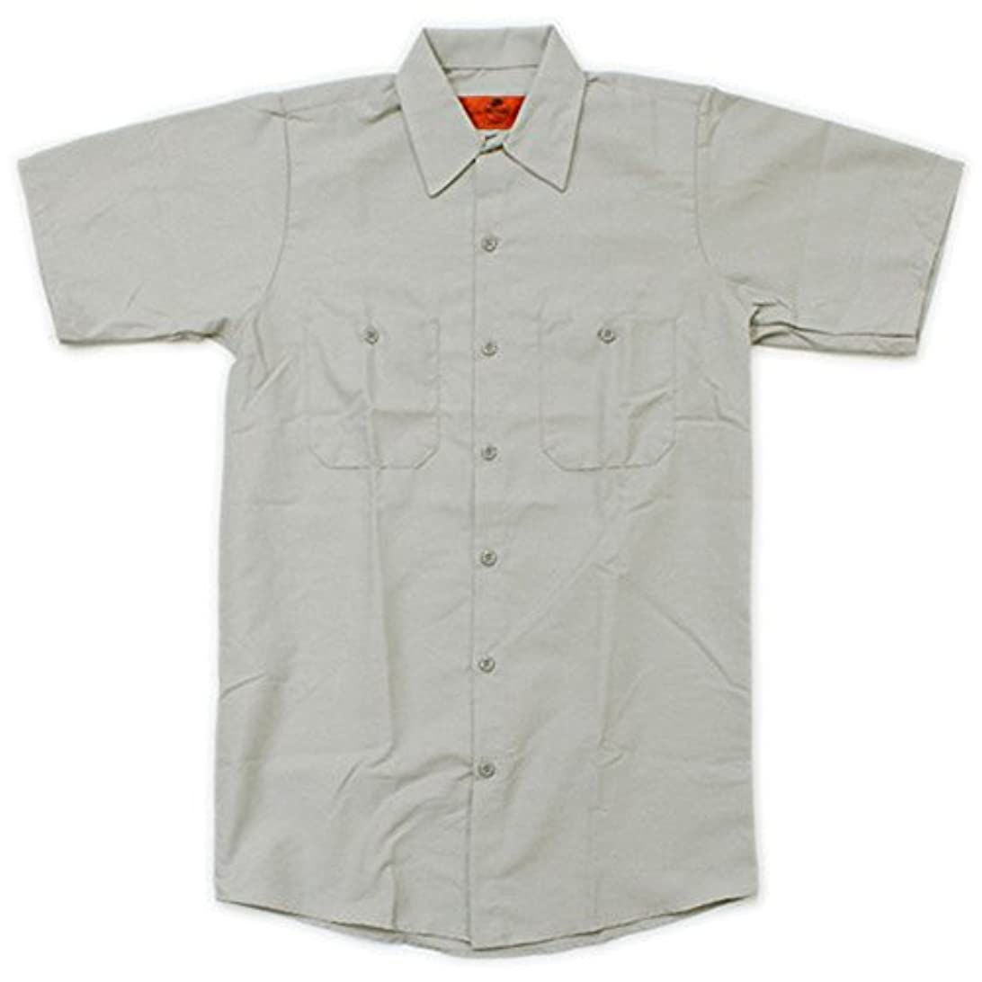 好奇心近代化する月曜RED KAP(レッドキャップ)/SHORT SLEEVE SOLID WORK SHIRTS(半袖ソリッドワークシャツ) S SV:シルバーグレー(Silver Gray)