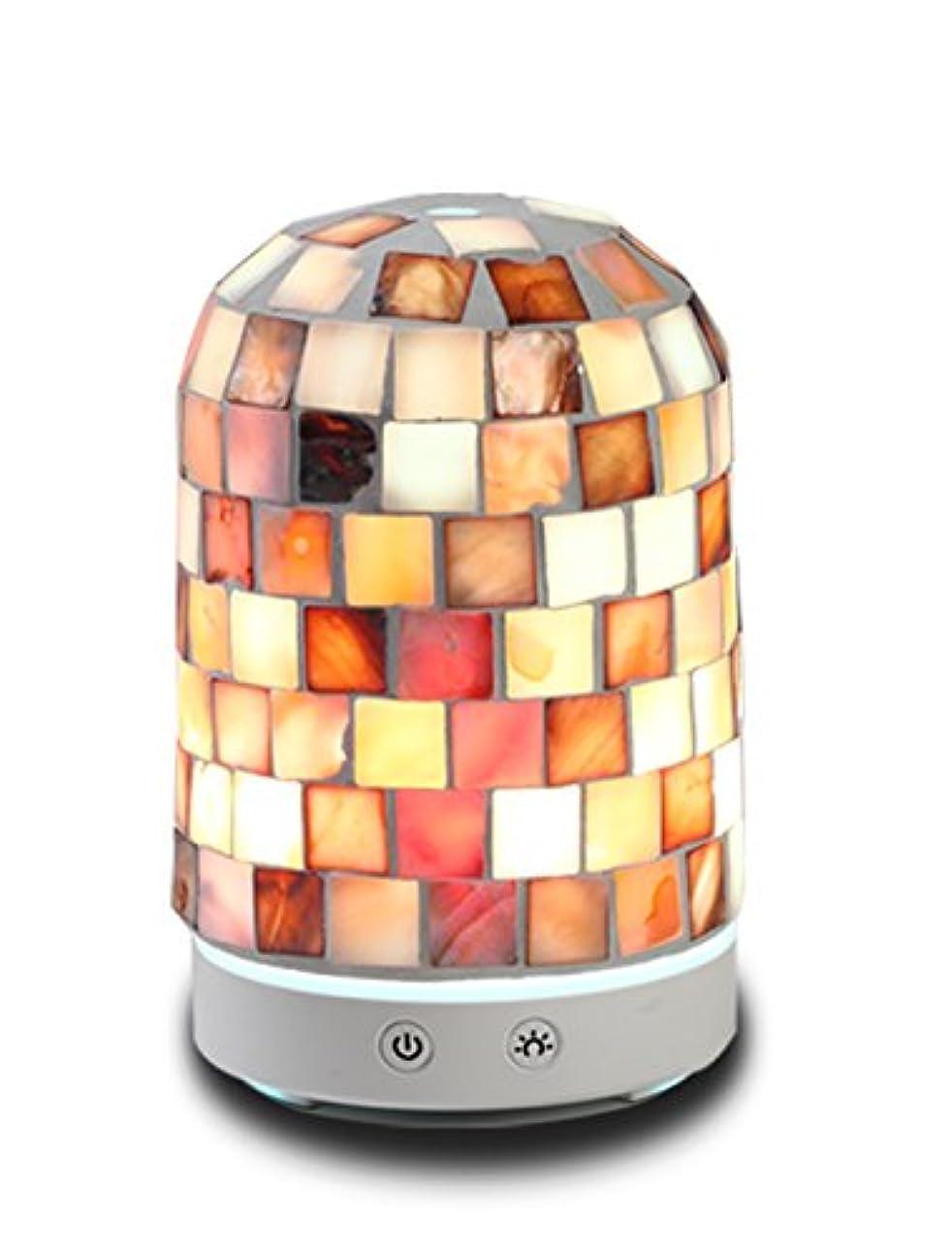 挑むひばり文化AAアロマセラピーアロマエッセンシャルオイルディフューザー加湿器120 ml Dreamカラーガラス14-color LEDライトミュート自動ライトChangingアロマセラピーマシン加湿器 Diameter: 9cm;...