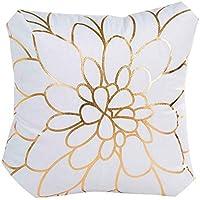 座布団 ファッションホーム枕カバーゴールド箔印刷枕ケース,45cmX45cm, A