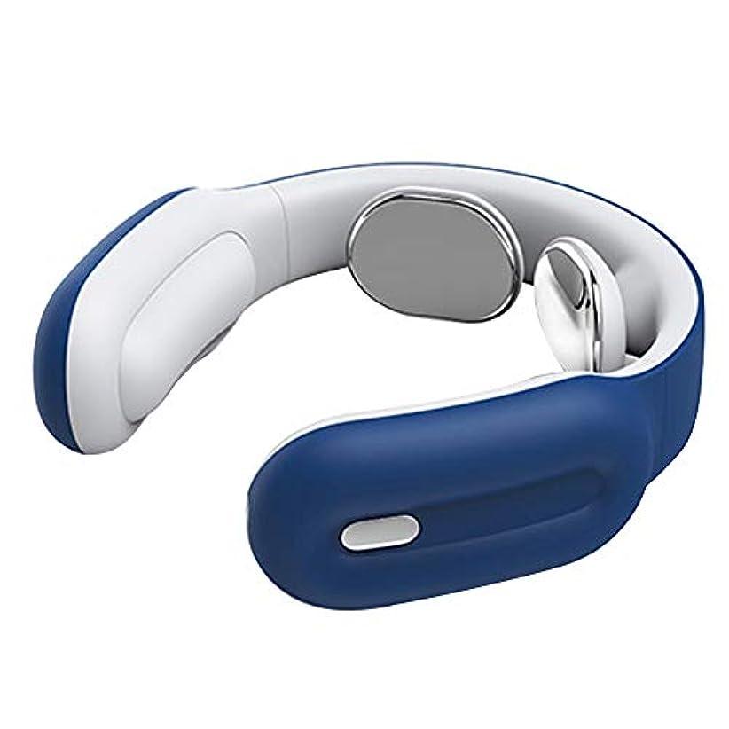 佐賀露権限パルス信号付きネックマッサージャー、3つの強度モード、背中、肩、首の痛みの軽減のための形状の子宮頸部マッサージリモートコントロール