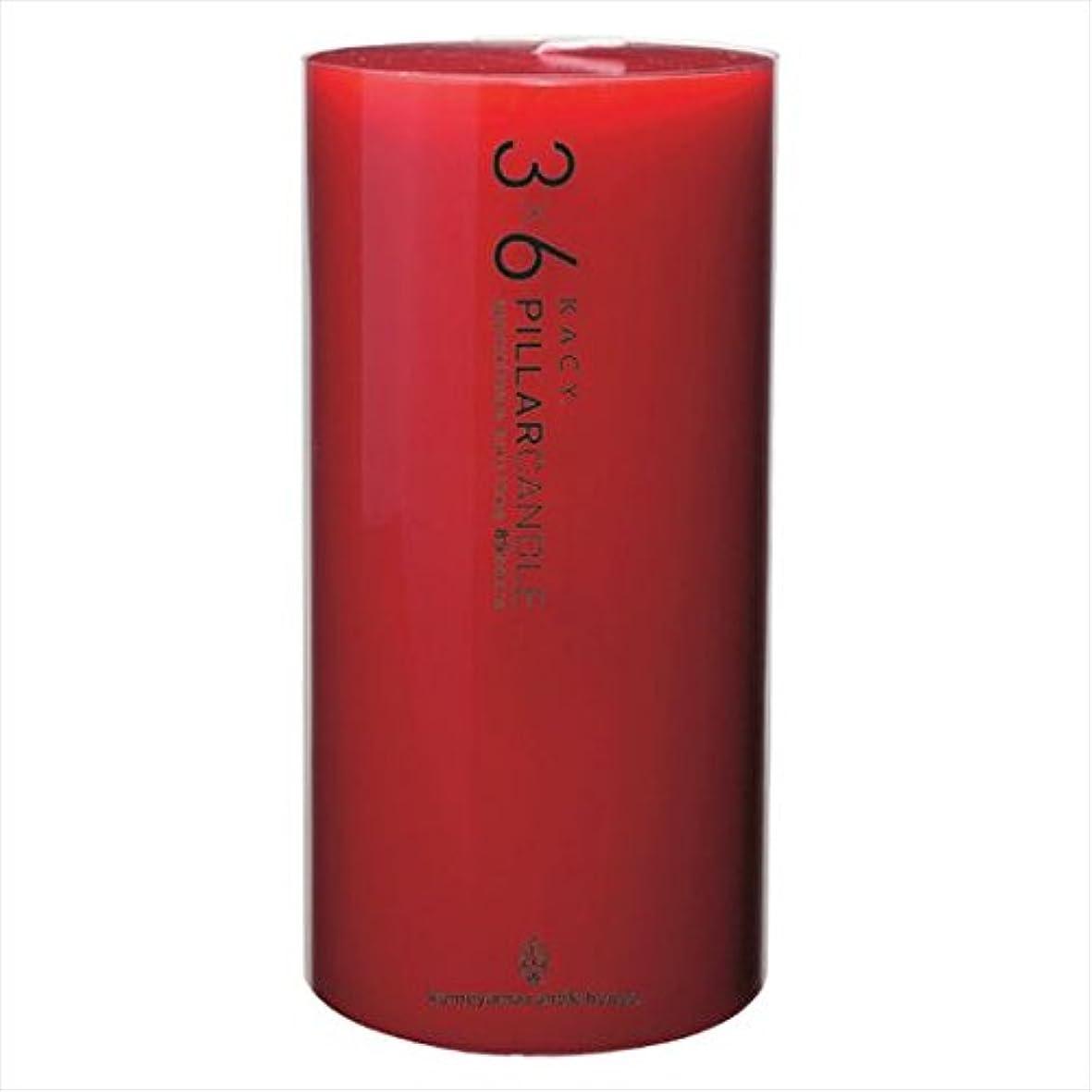 眉アミューズ消化器カメヤマキャンドル( kameyama candle ) 3×6ピラーキャンドル 「 レッド 」