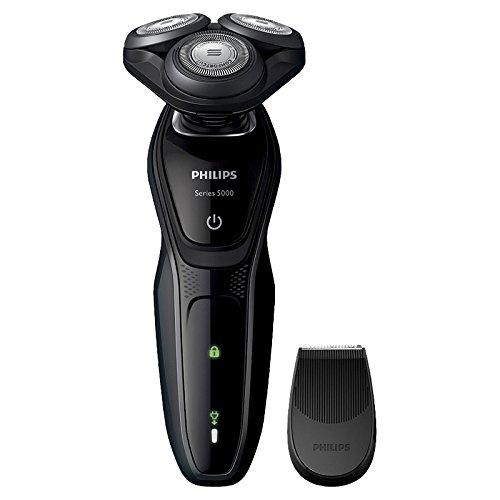 フィリップス 5000シリーズ メンズ 電気シェーバー 27枚刃 回転式 お風呂剃り & 丸洗い可 トリマー付 S5075/06