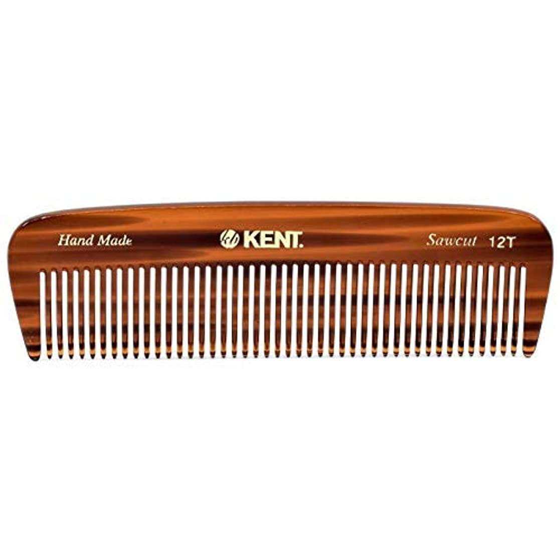 文明化手のひら湾Kent 12T Handmade Medium Size Teeth for Thick/Coarse Hair Comb for Men/Women - For Grooming, Styling, and Detangling...