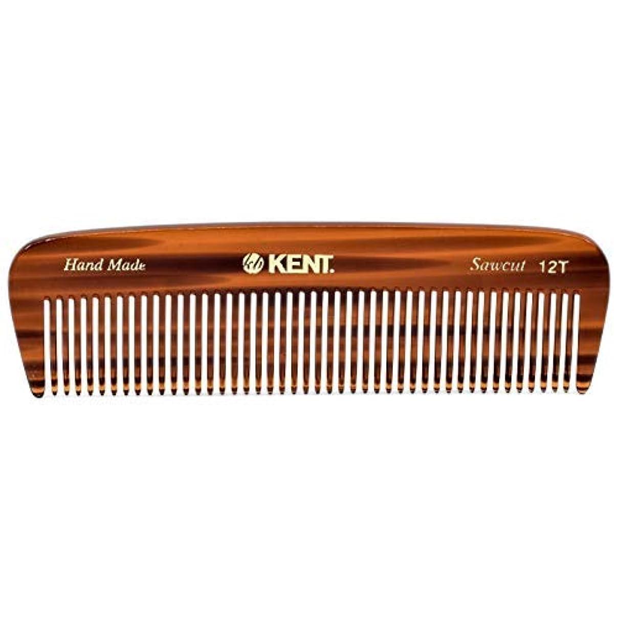 アマチュア衛星モーターKent 12T Handmade Medium Size Teeth for Thick/Coarse Hair Comb for Men/Women - For Grooming, Styling, and Detangling...