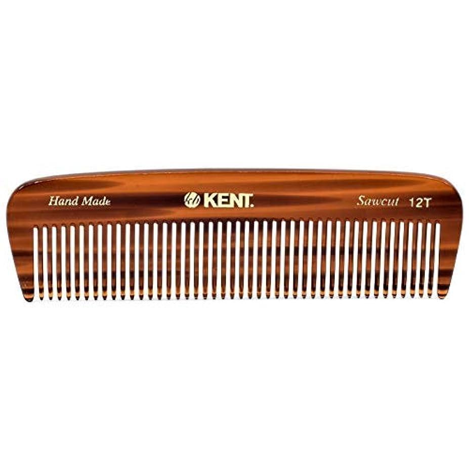 彼女自身疾患政令Kent 12T Handmade Medium Size Teeth for Thick/Coarse Hair Comb for Men/Women - For Grooming, Styling, and Detangling...