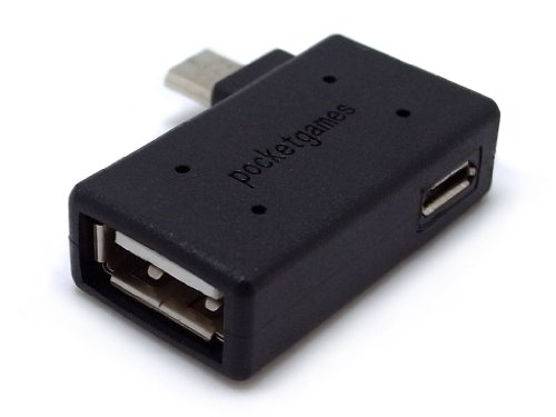 【pocketgames】USB機器への給電機能付き! スマートフォン対応 ポケットホストアダプタ microUSB セルフパワー 4107