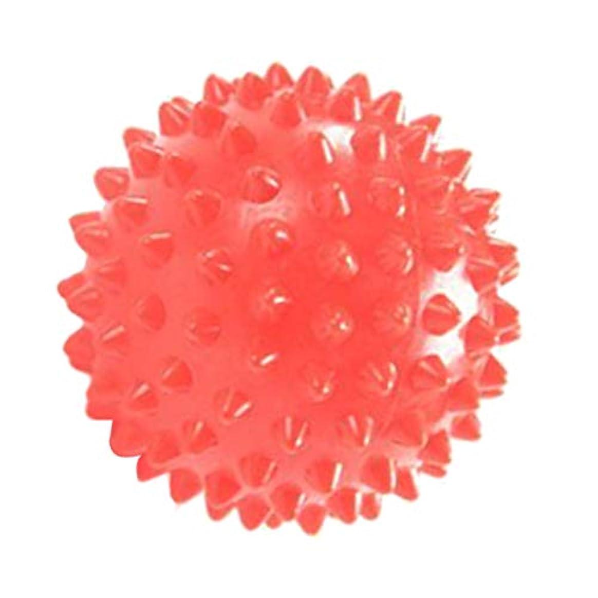 ほのめかすサスペンション昇進マッサージローラー マッサージ ヨガボール ツボ押し 触覚ボール 7cm オレンジ