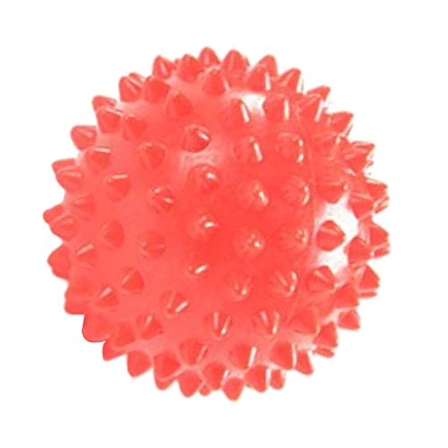 バナーマイナス膨らませるマッサージローラー マッサージ ヨガボール ツボ押し 触覚ボール 7cm オレンジ