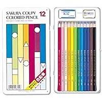 サクラ クーピー色鉛筆スタンダード 12色 1セット(12本) ds-1095642
