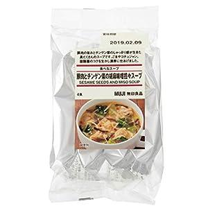 無印良品 食べるスープ 豚肉とチンゲン菜の胡麻味噌担々スープ 4食