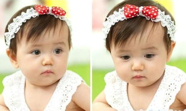 Baby ベビー用ヘアバンド ヘアアクセサリー 子供用【髪飾り】【バンド】伸縮性がある 赤ちゃんに最適!レッド 一枚入れ  並行輸入品