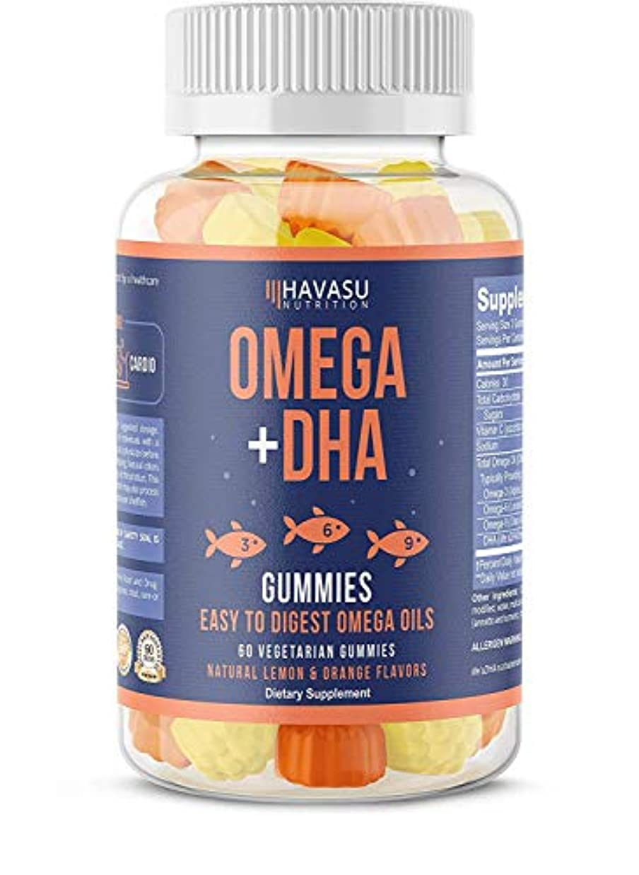 入浴不良品アマゾンジャングルHavasu Nutrition Omega + DHA Gummies 60 Vegetable Gummies
