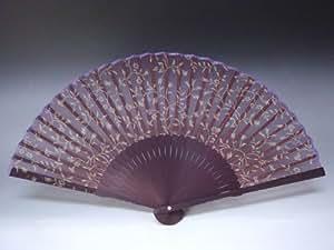 京扇子 女性用 「雅 紫」 日本製