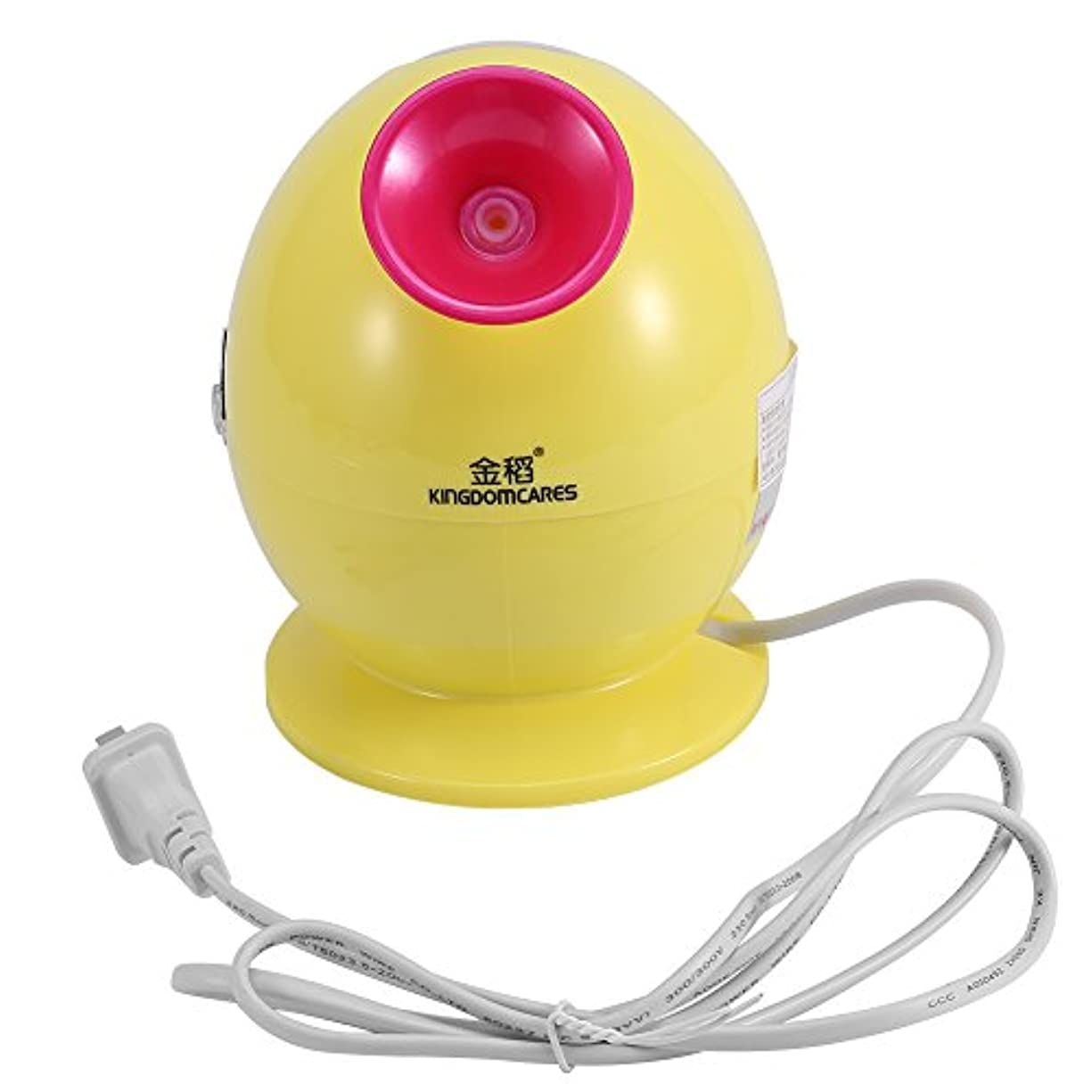 ミリメーター真夜中実装するナノイオンヒーター、ホットミスト加湿器ファミリーサウナSPAスキンケア(黄色)