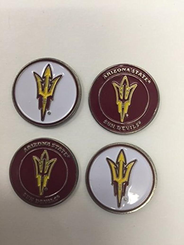 キルスディスコ小説Arizona State Sun Devilsゴルフボールマーカー4 -パック