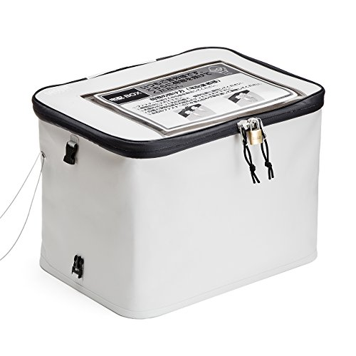 サンワダイレクト 宅配ボックス 簡易固定 折りたたみ可能 印鑑ケース付 盗難防止ワイヤー 鍵付 30リットル 300-DLBOX001