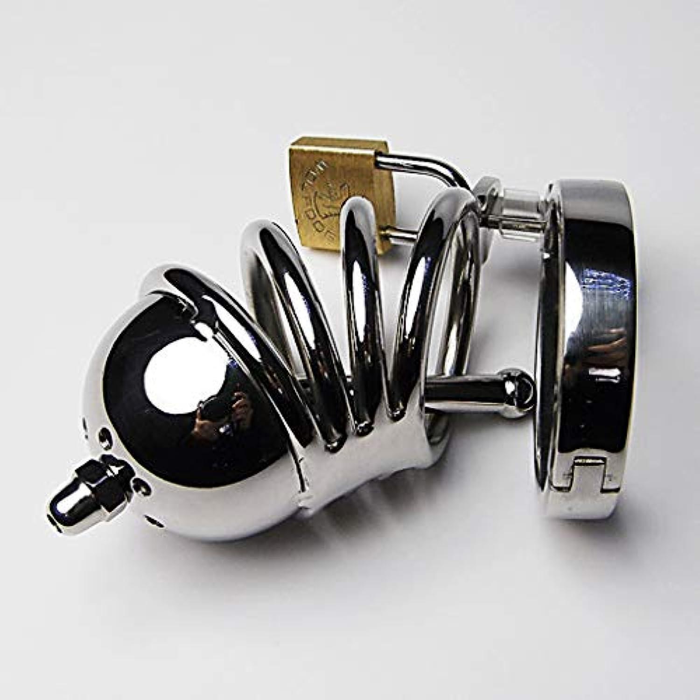 LRWTY C&Sメンズオルタナティブ玩具メンズステンレススティールフックとフープの金属製ロックメタルの穴あき男性用男性用装備備品ハーネス拘束ベルトアクセサリーTシャツ LW ( Size : 4.1cm )