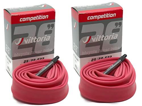 Vittoria Latex ラテックス チューブ 2個セット RVC 700c 仏式48mm ビットリア (700×25/28c) [並行輸入品]