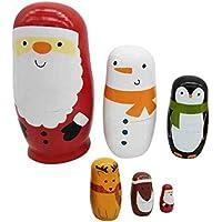 SONONIA 木製 マトリョーシカ ロシア人形 伝統  人形  雑貨 インテリア飾り 贈り物 手塗り - 様式#6