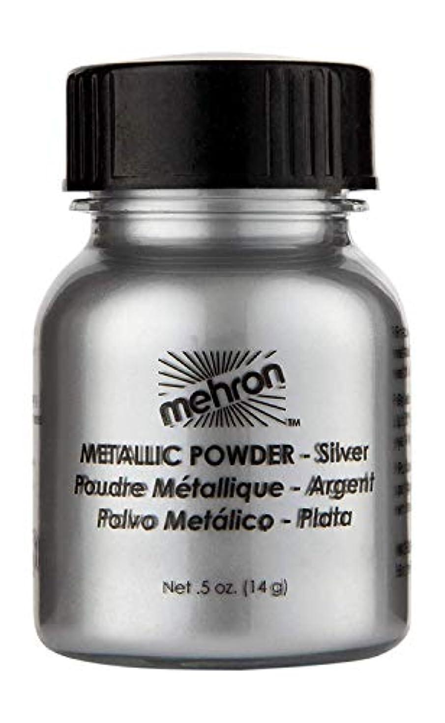 うまくいけば声を出して荒涼としたmehron Metallic Powder Silver (並行輸入品)