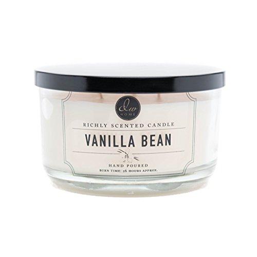 DWホームDecoware豊かな香りでCandle 12.82オンスガラスJar Large Triple Wick–-- Vanilla Bean
