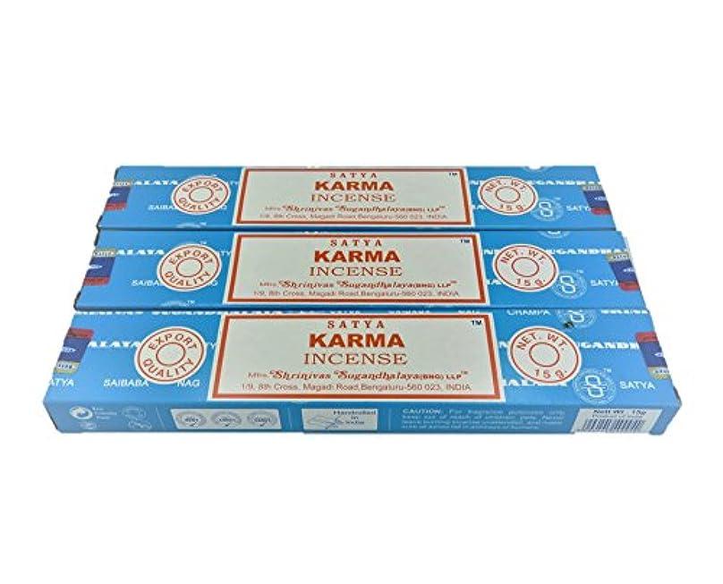 レンダリング乱用舌なSatya カルマ (スティックタイプ) 3箱