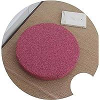 座布団 和風 ふとんクッション 修理座肥厚円フロア畳クッション,ピンク,40cm H6cm