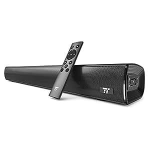 TaoTronics サウンドバー 改良版 PCスピーカー ステレオスピーカー Bluetooth4.2 AUX/光端子接続対応 壁掛けOK 学習能力あるリモコン TT-SK017 【12ヶ月+18ヶ月間安心保証】