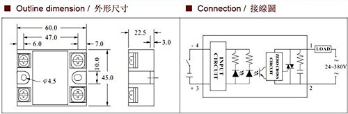 HiLetgo 交流を控える単相固体状態継電器 40A SSR-40DA ソリッドステートリレーモジュール [並行輸入品]