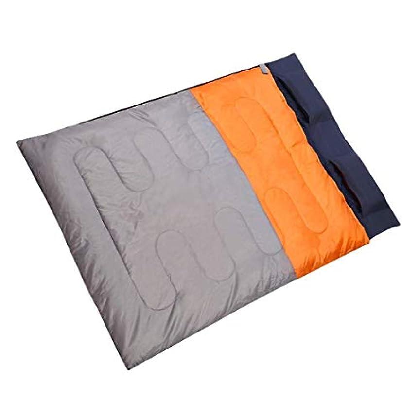 送料シャーロットブロンテ人ダブルクイーン寝袋大人用暖かい軽量4シーズン圧縮スリーピングマットアウトドアキャンプ旅行トレッキングオレンジブルー(カラー:B)