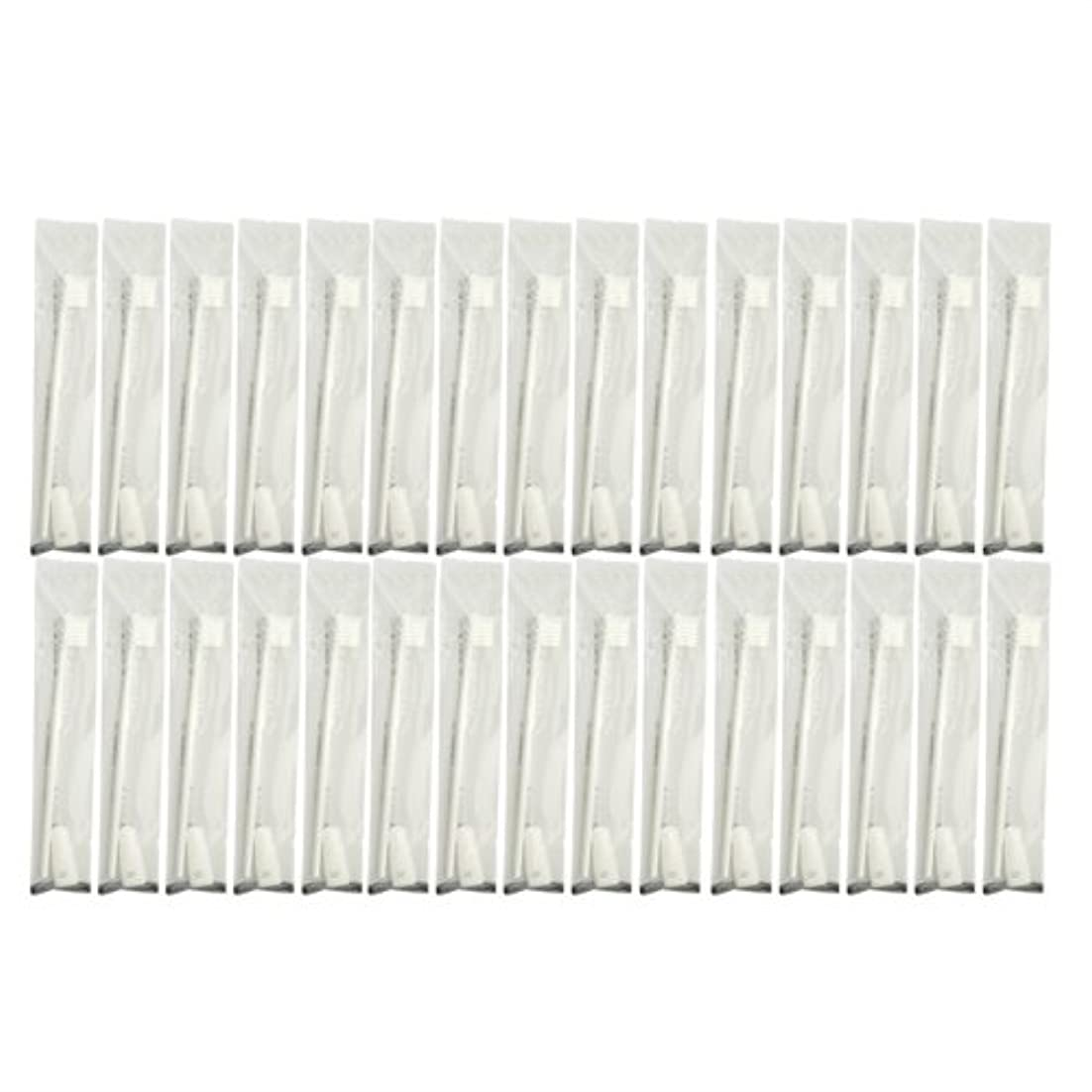 ハチ革命的何でも業務用 使い捨て歯ブラシ チューブ歯磨き粉(3g)付き ホワイト 30本セット│ホテルアメニティ 個包装タイプ