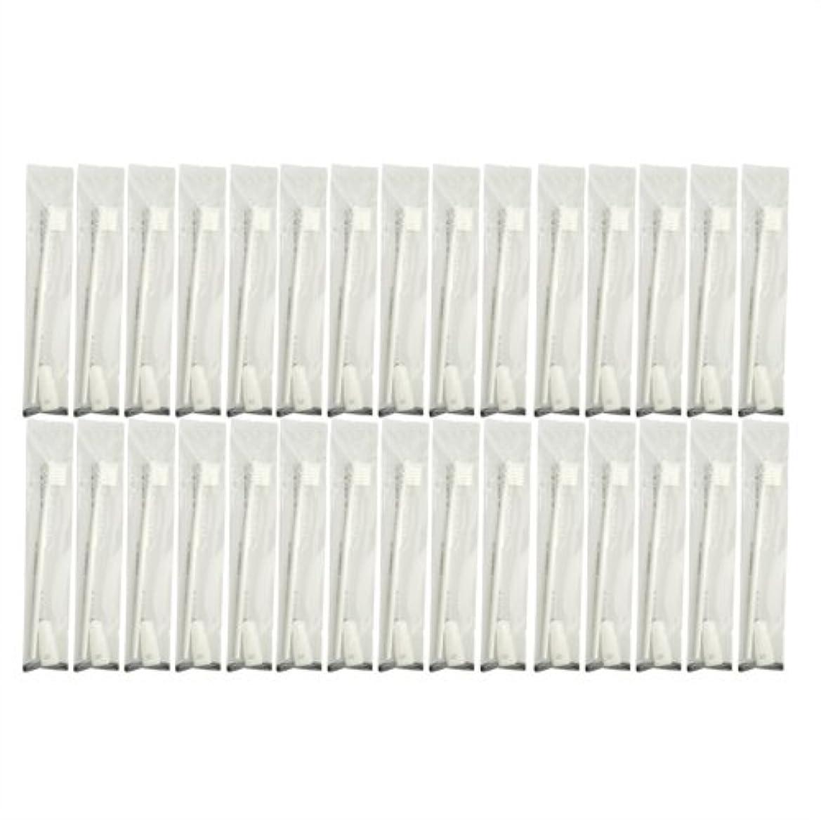 案件温かい会う業務用 使い捨て歯ブラシ チューブ歯磨き粉(3g)付き ホワイト 30本セット│ホテルアメニティ 個包装タイプ