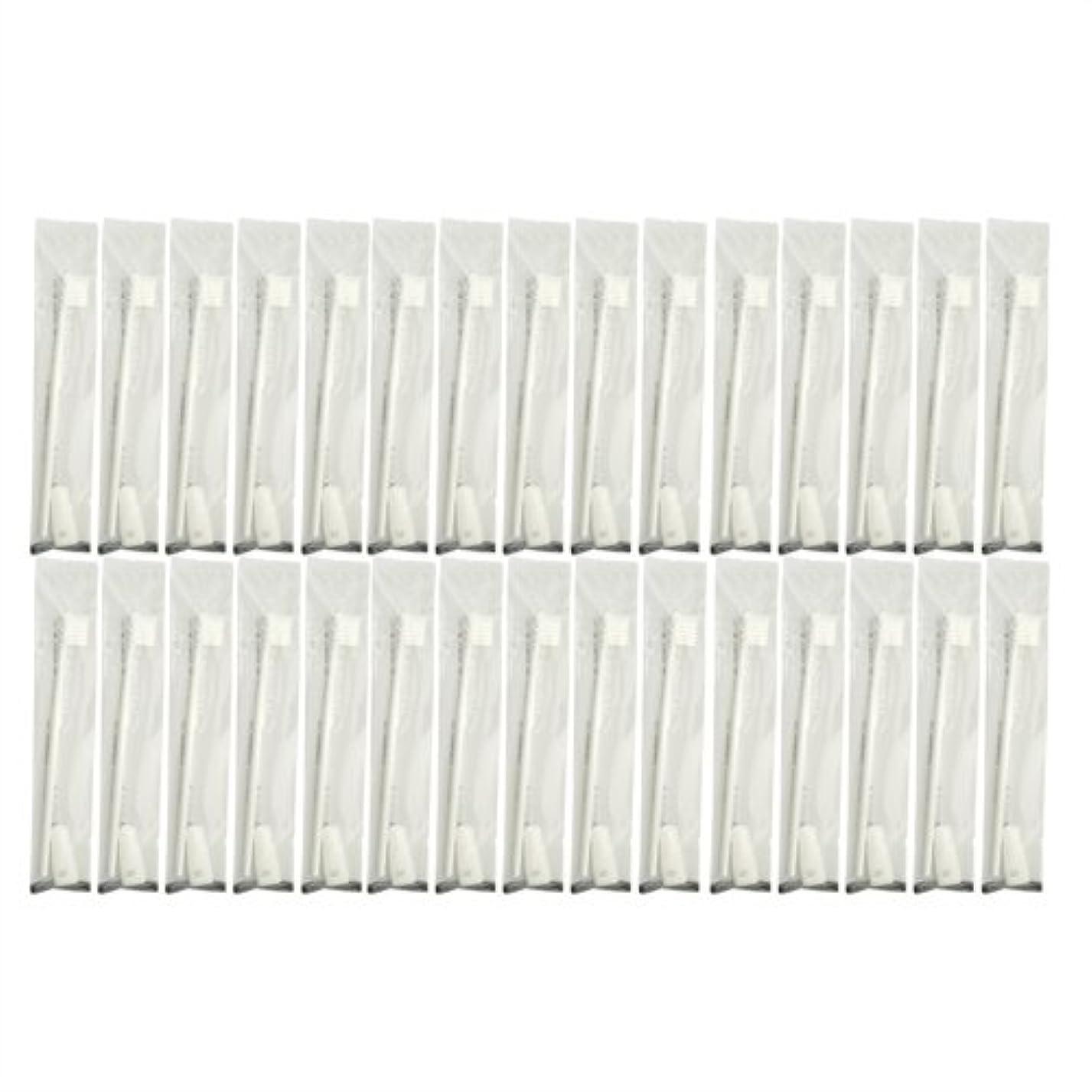 店主基本的な悲劇的な業務用 使い捨て歯ブラシ チューブ歯磨き粉(3g)付き ホワイト 30本セット│ホテルアメニティ 個包装タイプ