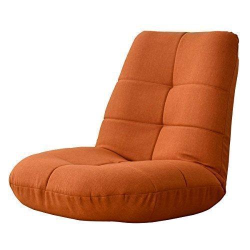 (DORIS) 座椅子 リクライニング 【racco ラッコ オレンジ】 ポケットコイル 背もたれ14段階 ふっくら座面厚さ17cm
