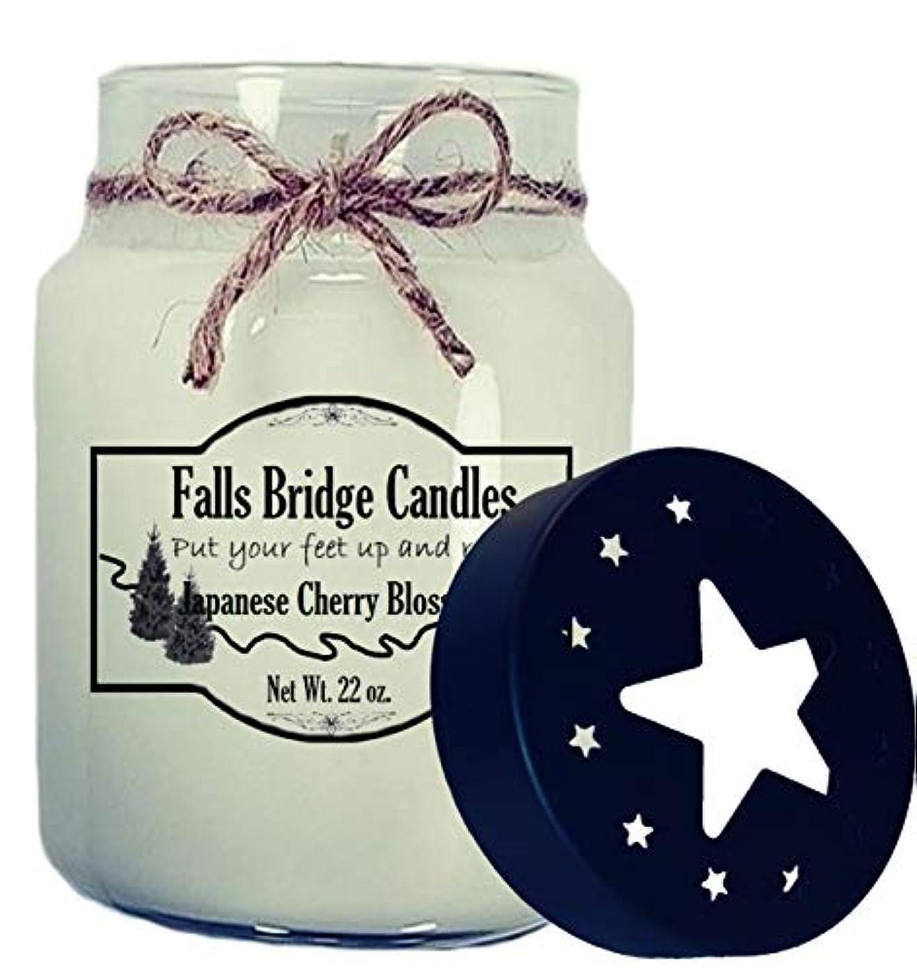 行進皮肉な行進Fallsブリッジキャンドルchrblsm16 Cherry Blossomパラフィンワックス香りつきJar Candle 22 oz CHRBLSM26S