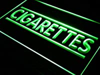 ADVPRO Cigarette Cigars Shop Stores LED看板 ネオンプレート サイン 標識 Green 400 x 300mm st4s43-i602-g