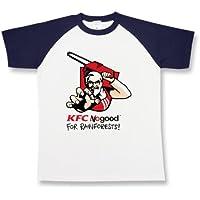 カーネルサンダース パロディ メンズ レディース ユニセックス ラグラン半袖Tシャツ