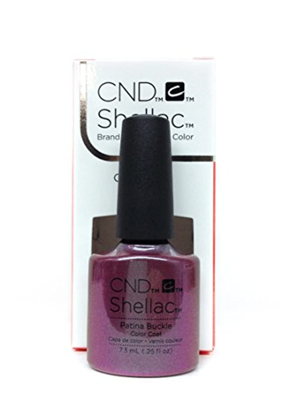 一過性請願者降ろすCND Shellac Gel Polish - Patina Buckle - 0.25oz / 7.3ml