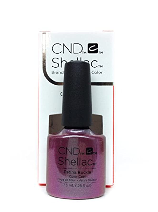 仕様湾衝動CND Shellac Gel Polish - Patina Buckle - 0.25oz / 7.3ml