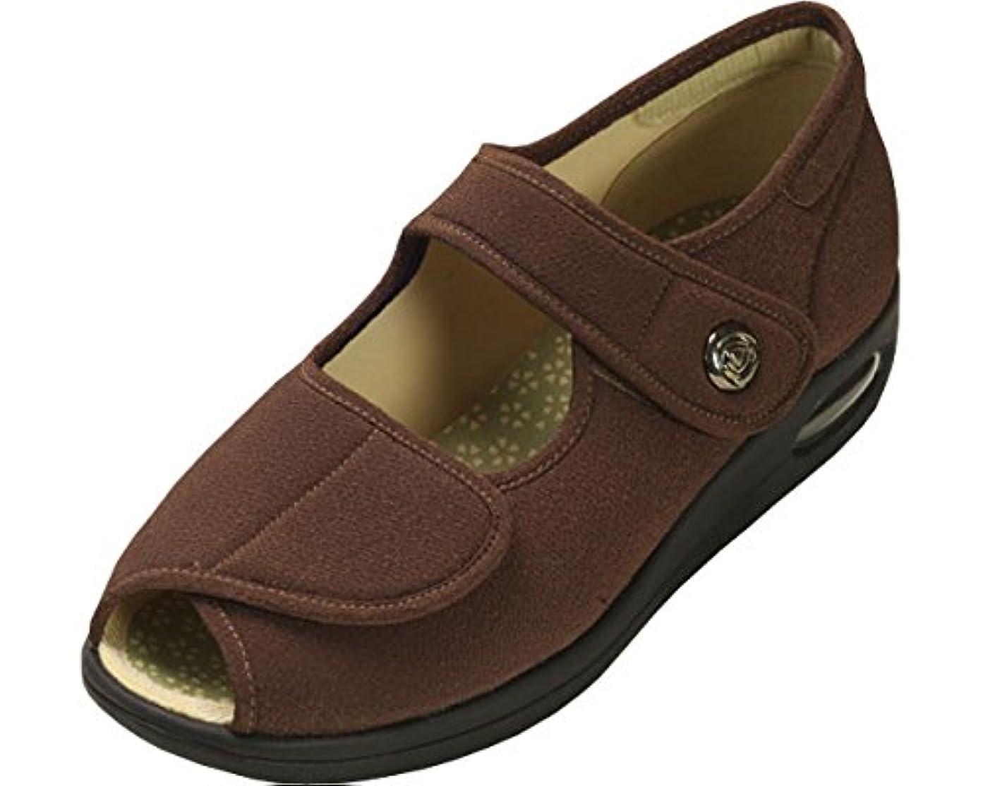 彩彩~ちりめん~ 両足 婦人用 21.5cm ブラウン W1103 (マリアンヌ製靴) (シューズ)(返品不可)