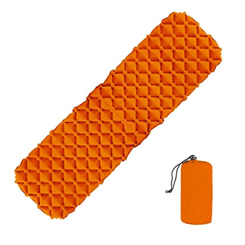 横たわるポジション代替案超軽量の睡眠マットは、時折使用するゲスト用のインフレータブルポータブルスリーピングパッドを絶縁します。室内外ベッドスペースの節約 (色 : オレンジ, サイズ さいず : L l)