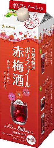 3種の贅沢 ポリフェノール 赤梅酒 1800ml