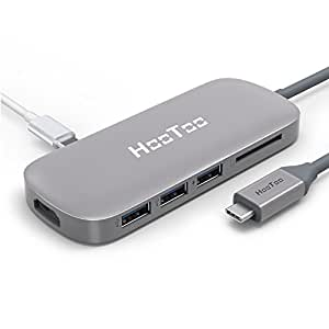 HooToo USBハブ Type-C 3 3.0ポート HT-UC001 グレー