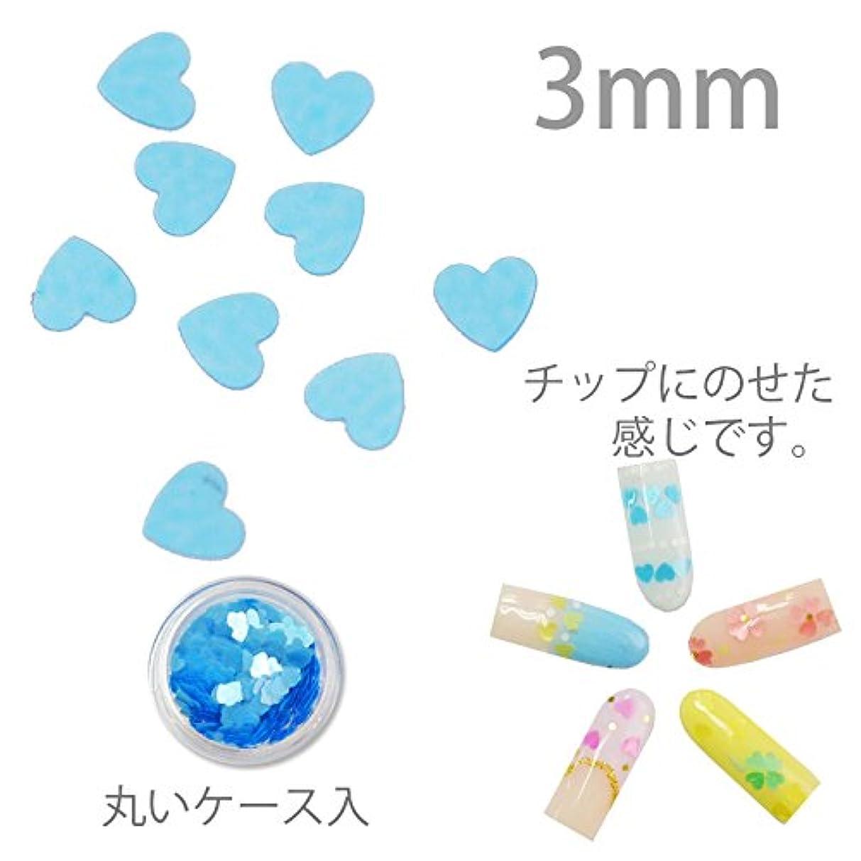 害彼らのフラップハートの形のホログラム 3mm 0.5g 丸ケース入り (BLUE)
