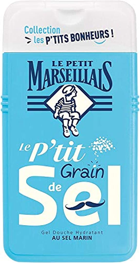 リットル頬骨アルカトラズ島「海塩」シャワージェル ???? フランスの「ル?プティ?マルセイユ (Le Petit Marseillais)」 les P'TITS BONHEURS 250ml ボディウォッシュ