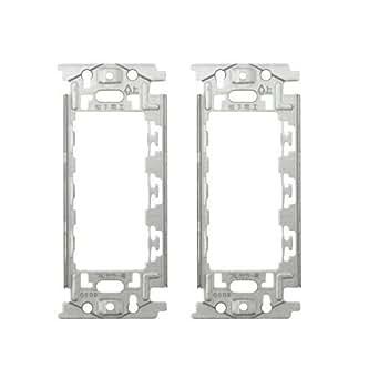 電気工事士 試験 練習用 埋込取付枠(金属) 2枚セット