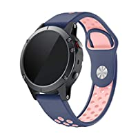 Gloriza for ガーミン Fenix 5 バンド スマートウォッチ 時計交換ベルド 柔らかいシリコン 対応 Fenix 5 (ピンク)
