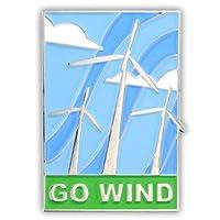 Pinmart 's Eco Go風風車Envoronmental Awarenessエナメルラペルピン 100