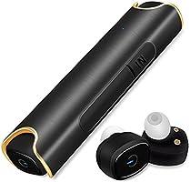 Bluetooth イヤホン 高音質 ワンボタン設計 軽量 防水 スポーツイヤホン 片耳 両耳 カナル型 Bluetooth 4.2 ワイヤレス ヘッドセット マイク内蔵 通話可 iPhone Android 対応 (ブラック)